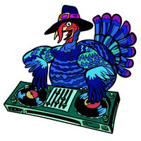 Thanksgiving Turkey character. Isolate on white background