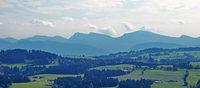 Alpensicht bei Sulzberg,  Bregenzerwald, Vorarlberg, Österreich