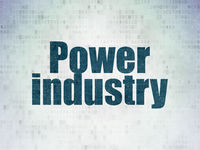 Manufacuring concept: Power Industry on Digital Data Paper background