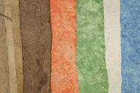 collection of coloraful amate bark papers