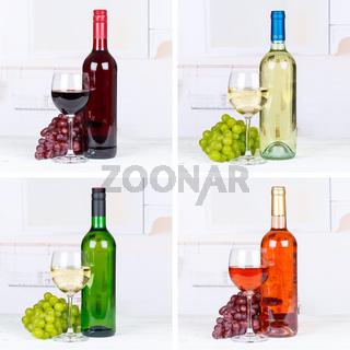 Wein Flaschen Weinflaschen Sammlung Rotwein Rose Weißwein Weisswein Weine