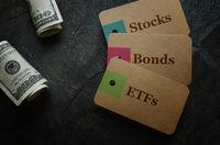 ETFs Stocks and Bonds money
