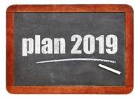 plan 2019 - blackboard sign