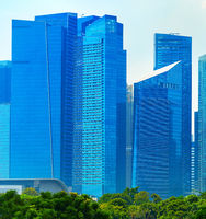 Skyscrapers in Singapore Downtown