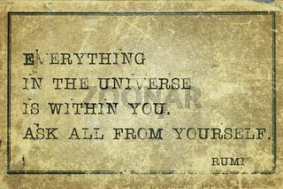 ask yourself Rumi