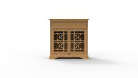 3d rendering of a small cabinet isolated in white background
