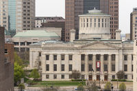 The Ohio Statehouse Tight Crop in the Downtown Urban Core of Columbus