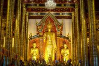 Buddha statue, Wat Chedi Luang temple, Chiang Mai, Thailand
