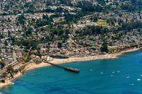 Capitola Beach in California Aerial View