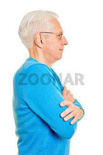Alter Mann im Profil