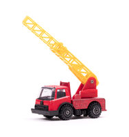 Toy firetruck with ladder