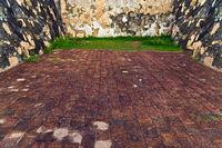 Brick block pathway construction materials