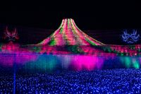 Nabana No Sato winter illumination in Mie, Japan
