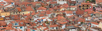 Roofs of old medieval hoses of costal Piran town, Slovenia