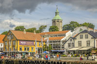 The harbour and  Valberg Tower Stavanger Norway