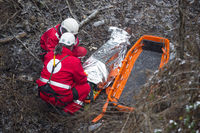Paramedics mountain rescue service