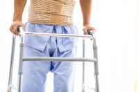 elderly using adult walker