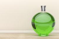 Green liqueur bottle