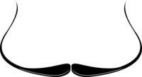 Dali Moustache Icon Vector