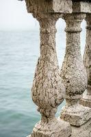 Balustrade At Shore of Lake, Venice, Italy