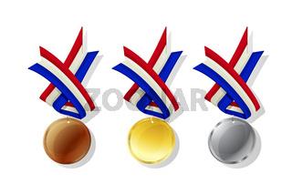 Netherlands vector medals set