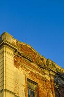 Abandoned Building Detail, Ciudad Vieja District, Montevideo, Uruguay