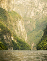 Tourists In Sumidero Canyon Mexico
