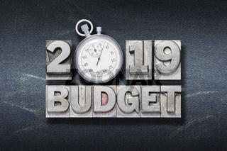 2019 budget watch den