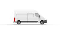 3d rendering of a utility van isolated in white background