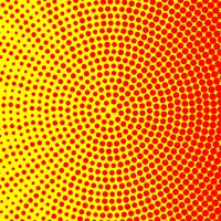 Simple circle halftone background