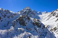 Gipfel Pointe des Lacerandes beim Grossen St. Bernhard Pass, Wallis, Schweiz