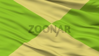 Corozal City Flag, Colombia, Sucre Department, Closeup View