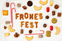 Gingerbread Letters, Candy Collection, Frohes Fest Means Merry Christmas