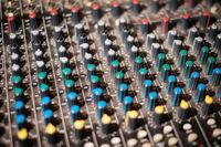 studio mixer knobs - music equipment, sound controller -