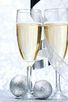 Champagne and decoration
