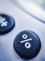 Prozentzeichen auf einem Taschenrechner