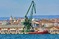 Harbor Crane in the Port