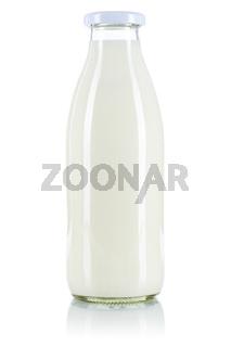 Milch Flasche Milchflasche freigestellt Freisteller isoliert