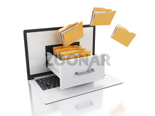 3d Laptop and files