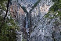 Slowenien, Boka Wasserfall