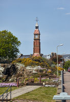 The Jubilee Clock Tower in Seaton. Devon.  England
