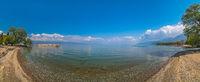 Beach on the shore of Lake Ohrid