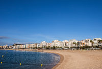 Blanes Beach And Town Skyline