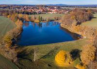 Luftbildaufnahme von Neudorf im Harz Stadt Harzgerode