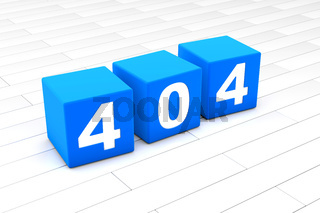3D illustration of the HTML error Code 404
