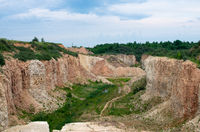 Limestone mining for cement plant