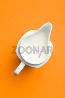 Milk in jug.