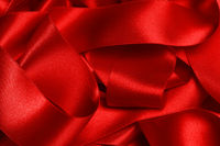 Red ribbons background