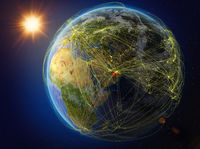 United Arab Emirates on Earth with network