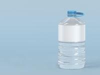 Large plastic water bottle